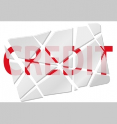 broken creditcard vector image vector image