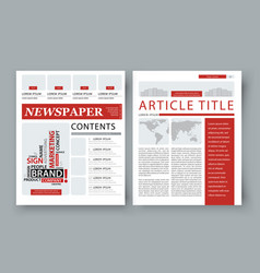 corporate magazine template front page vector image vector image