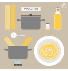 Infographics cooking pasta vector image