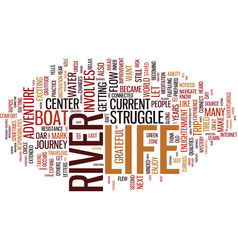 life lessons from the river text background word vector image vector image