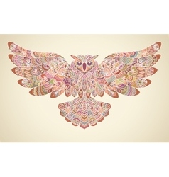 Stylized Decorative Owl Print for T-shirt vector image