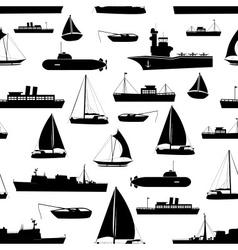 various transportation navy ships icons seamless vector image vector image