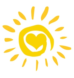 Abstract Sun With Heart vector image