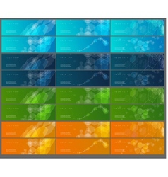 Collection of banners vector image vector image