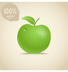 Cute fresh apple vector