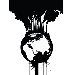 Pollution Earth vector image