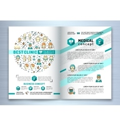 Brochure plastic surgery clinic Medical design vector image vector image