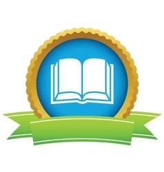 Gold book logo vector image