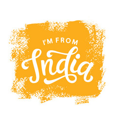 I am from india t-shirt print design retro style vector