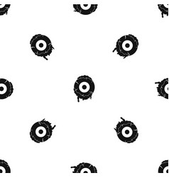 scary eyeball pattern seamless black vector image