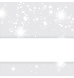 Silver abstract background Christmas templ vector image vector image