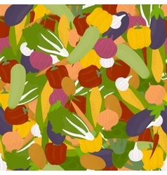 Veggies seamless pattern vector image