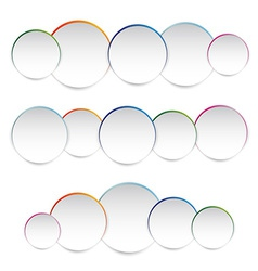 white paper round vector image vector image