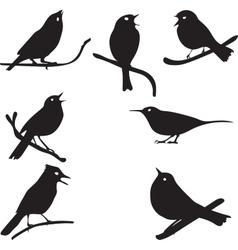 Bird Silhouettes bird on branch vector image vector image