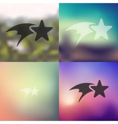 christmas star icon on blurred background vector image vector image