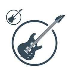 Electric guitar music icons isolated vector image