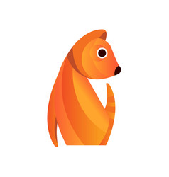 red squirrel stylized geometric animal low poly vector image