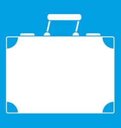 Travel bag icon white vector