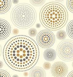 Yellow watercolor seamless texture with polka dots vector image vector image