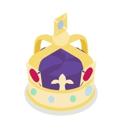 A royal crown icon isometric 3d style vector image