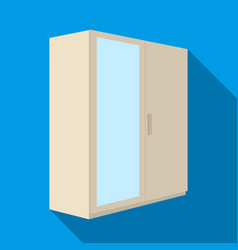a small wardrobe with a clean mirrorbedroom vector image