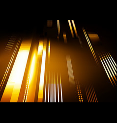 abstract tech background with glowing stripes vector image