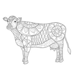 Free Printable Cow Coloring Pages For Kids | 250x238