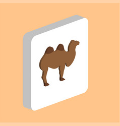 african bactrian camel computer symbol for your vector image