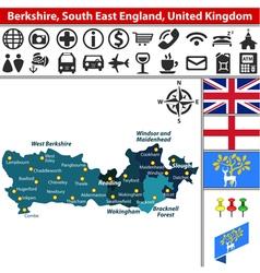 Berkshire south east england vector