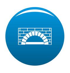 Brick oven icon blue vector