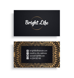 business card luxury template vector image
