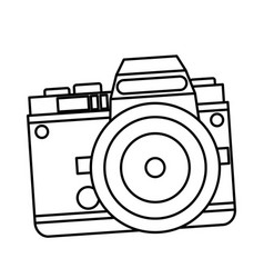 camera photo picture travel equipment line vector image