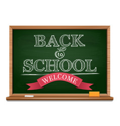 Chalk on a blackboard - back to school vector