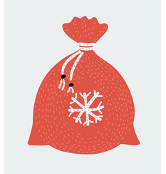 christmas bag with gifts vector image