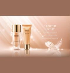 Colorstay make-up in elegant packaging vector