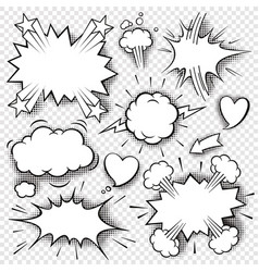 comic bubbles and elements 3 vector image