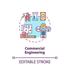 Commercial engineering concept icon vector