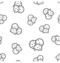 cookie seamless pattern background business vector image