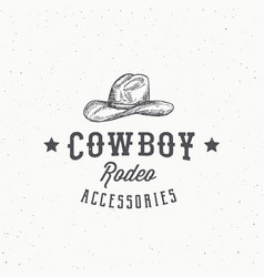 cowboy rodeo accessories abstract sign vector image