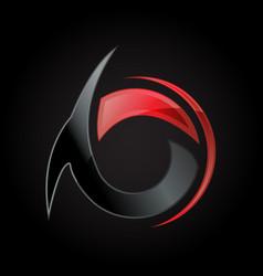 Creative stylist greek letter alpha logo design vector