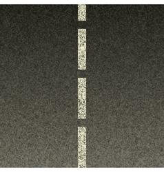 dashed line on asphalt vector image