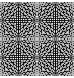 Design monochrome seamless mosaic pattern vector image