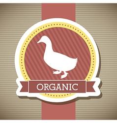 Duck meat over beige background vector