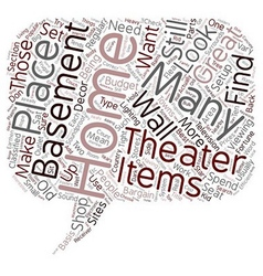 Efficient Home Theater Setup text background vector