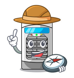 Explorer air cooler isolated with cartoon vector