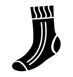 fabric sock icon simple style vector image