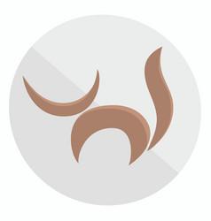 flat cartoon cats icon vector image