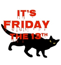 Friday 13 with black cat vector