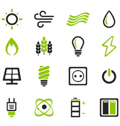 Fuel and power generation icons vector