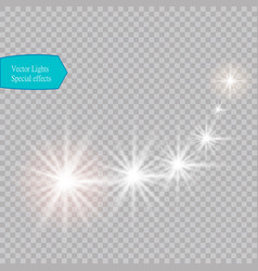 Glowing stars lights and sparkles vector